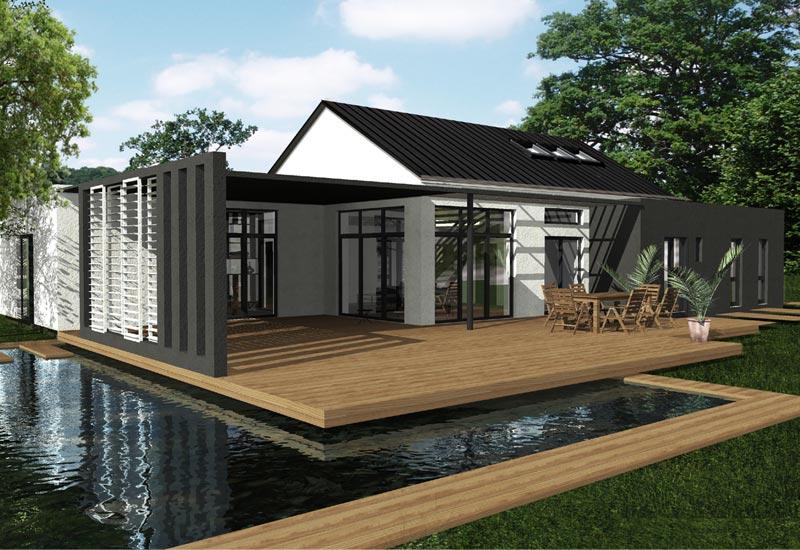 Maison Normandie : Architecture intérieur et extension