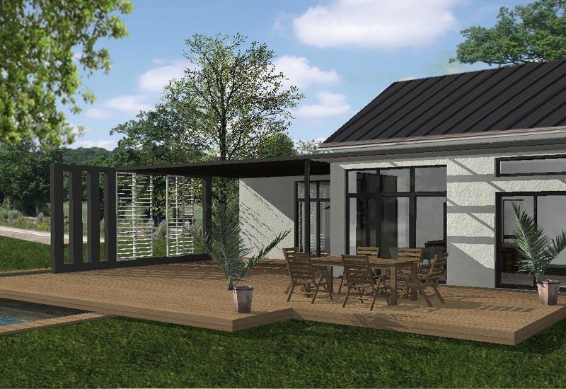 Maison Normandie : Extension et terrasse bois