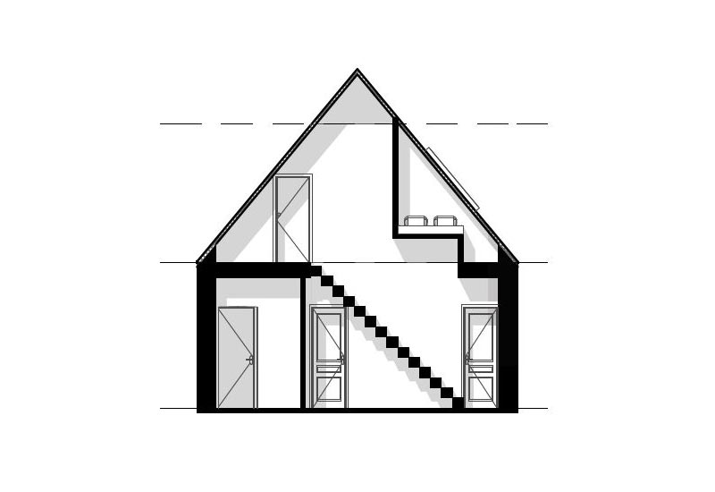 Architecte intérieur : aménagement combles (plan 2)