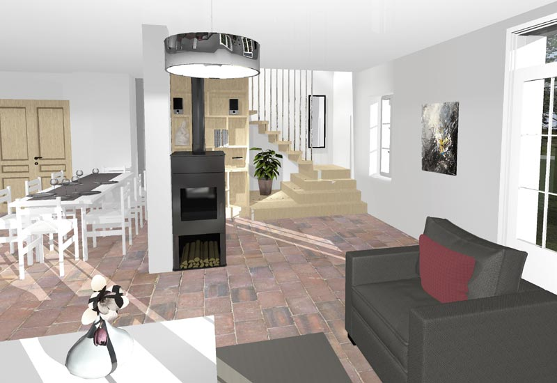 Architecture intérieur, aménagement de combles - Vue 1