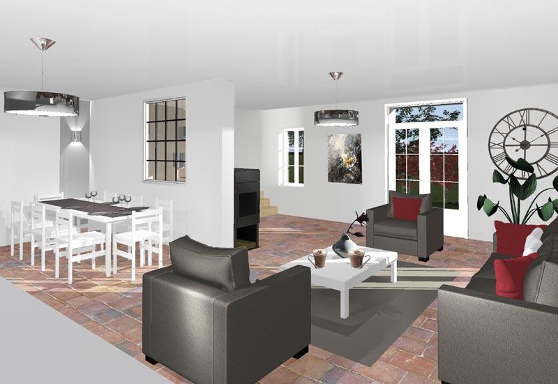 Architecture intérieur, aménagement de combles - Vue 2
