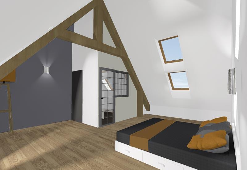 Architecture intérieur, aménagement de combles - Vue 5
