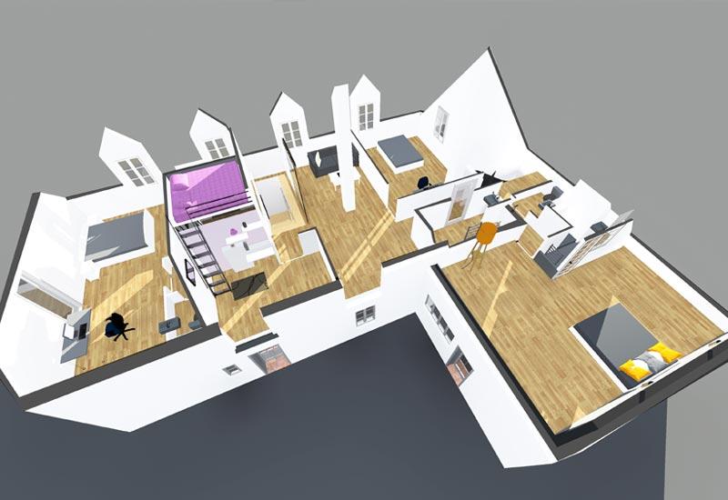 Architecture intérieur, aménagement de combles - Vue 6