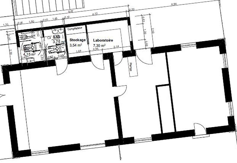 Architecte restaurant : plan 1